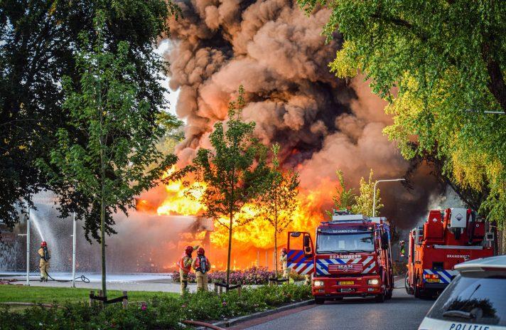 Foto van grote brand in Haren
