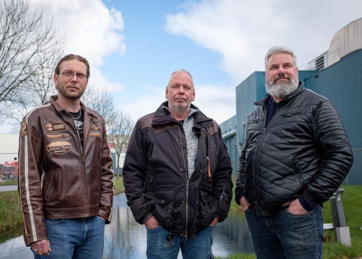 Johan Molema, Anton Postma en Johan Rieks